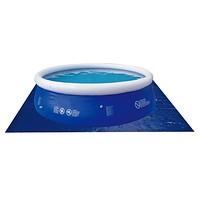 18.5' Square Blue Swimming Pool Ground Cloth