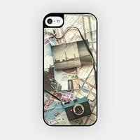 for iPhone 6 Plus - High Quality TPU Plastic Case - Vintage Photos & Camera - World Map - Wanderlust - Travel - Free Spirit