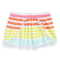 Toddler Girl's Flowers by Zoe Stripe Shorts,