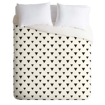 Allyson Johnson Upside Down Triangles Duvet Cover