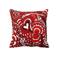 Red White and Black POP ART PILLOW from Zazzle.com