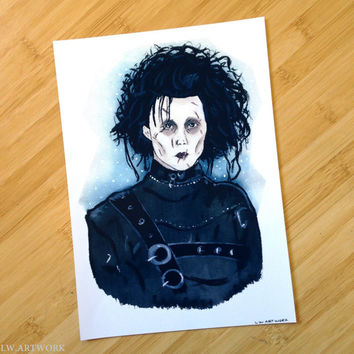 Edward Scissorhands A4 Art PRINT