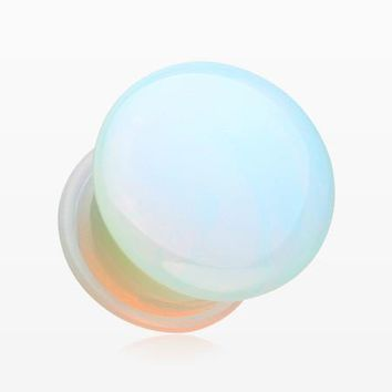 A Pair of Opalite Convex Stone Single Flared Plug