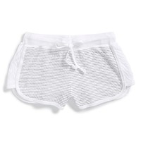 Girl's T2 Love Stripe Track Shorts,