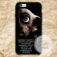 Harry Potter and the deathly hallows dobby iPhone 4/4S, 5/5S, 5C Series, Samsung Galaxy S3, Samsung Galaxy S4, Samsung Galaxy S5 - Hard Plastic, Rubber Case