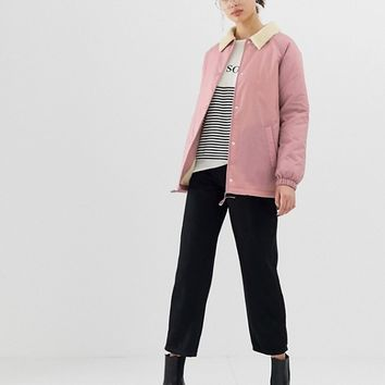 ASOS DESIGN fleece collar tech jacket | ASOS
