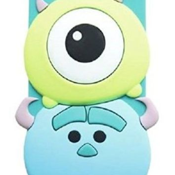 iPhone 6 Case, Maxbomi - 3D Cute Cartoon Alien Monsters Mike Wazowski and James P. Sullivan Sulley Soft Silicone Rubber Protective Skin Protector Back Case Cover for iPhone 6 (4.7 inch)