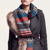 Aoki Fashion - Bohemian National Style Fringed Thick Winter Scarf