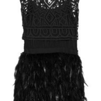 Sass & bide | Winding Road silk-blend and feather dress | NET-A-PORTER.COM