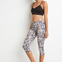 Abstract Print Athletic Capri Leggings