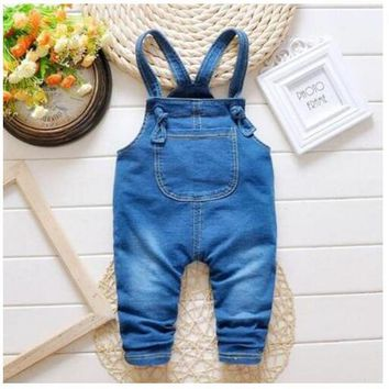Children Jeans&Pants Spring New Baby Kids clothing Cute Bib Pants Overalls Infant Girl Boy clothes Strap Haren Leisure Pants