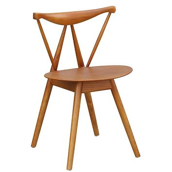 Fine Mod Imports Fronter Dining Chair, Walnut