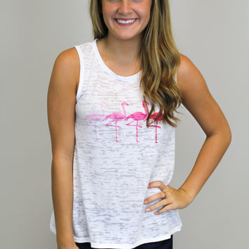 Flamingo Print Top