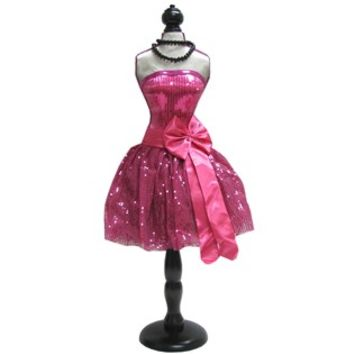 Hot Pink Mannequin Dress Form with Black Stand