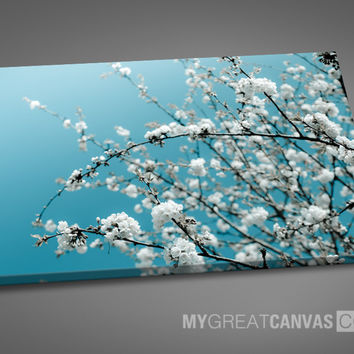 Large Wall Art Cherry Blossom Floral Canvas Print
