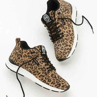 Gourmet Animal Print Suede Running Sneaker- Brown Multi