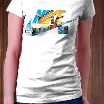 NIKE SB Women T-Shirt -NIKE T-Shirt - Sport Design T-Shirt - All Color Available )