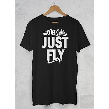 Wiz Khalifa Taylor Gang JUST FLY Hip Hop Graphic Tee Unisex T Shirt