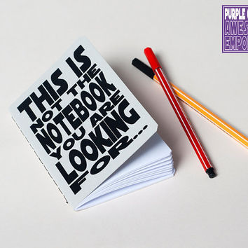 Star Wars notebook grey- Not the notebook you are looking for - Typography Journal