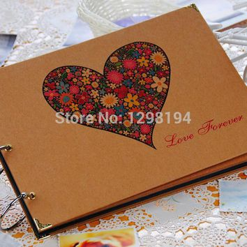 Free shipping vintage Antique DIY Photo Album Scrapbook Paper Crafts for baby wedding picture photograph sticker