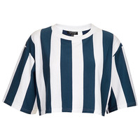 Striped Crop Top - Jersey Tops - Clothing - Topshop USA