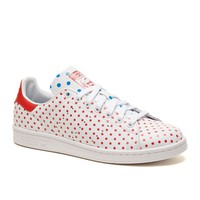 Adidas Pharrell Williams Stan Smith Shoes - Mens Shoes - White Red