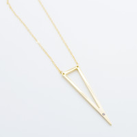 Long triangle necklace