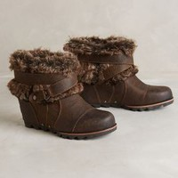 Sorel Joan of Arctic Wedge Boots Brown