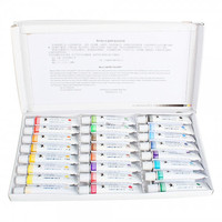 Professional Marie's 24 Colors 12ml Watercolor Paint Pigment Set