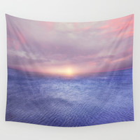 Sunset v4 Wall Tapestry by vivianagonzalez