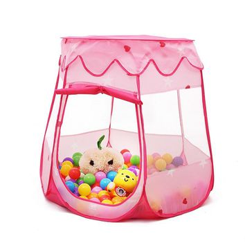 2018 New Baby Playpen Play Yard Tienda Corralito Kids Tent Safe Play House Playpen Balls Indoor Ball Pool Princess Play Tent Mes