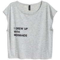 H&M Top with Printed Text $4.99