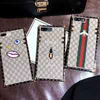 Gucci Embroidery bee phone case shell  for iphone 6/6s,iphone 6p/6splus,iphone 7/8,iphone 7p/8plus, iphonex