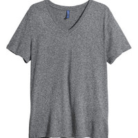 V-neck T-shirt - from H&M