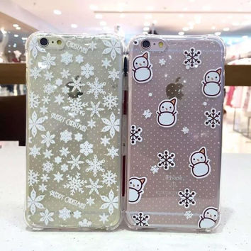 Hot Sale Stylish Iphone 6/6s Cute Hot Deal On Sale Iphone Couple Transparent Phone Case [6034114305]