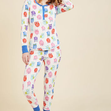 Nocturnal Yourself Out Pajama Set in Owls | Mod Retro Vintage Underwear | ModCloth.com