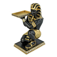 Egyptian Pharaoh's Kneeling Nubian Servant: Egyptian Side Table Statue - NE867003 - Design Toscano