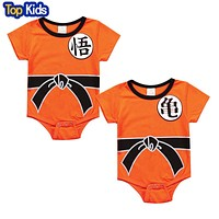 Dragon Ball Baby Rompers Newborn Baby Boys Clothes Jumpsuit