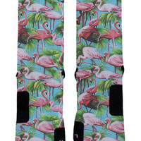 Ok Sock | Flamingo - Nike Elites