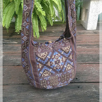 Blown Hippie Mini Shoulder Bag Sling Gyspy Boho Hobo Pouch Yam Ethnic Aztec Art Printed Purse Beach Tote School Bags Crossbody Messagenger