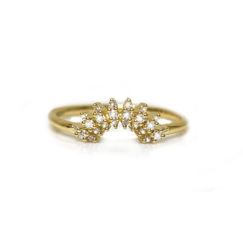 14kt Gold Diamond Cote D'Azur Ring
