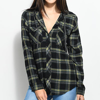 Empyre Jai Olive Hooded Flannel Shirt | Zumiez