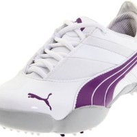 PUMA Women's Sunny Golf Shoe,White/Purple Magic,9 M US