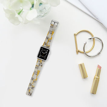 pineapple sunshine yellow apple watch band Apple Watch Band (38mm) by Sharon Turner   Casetify