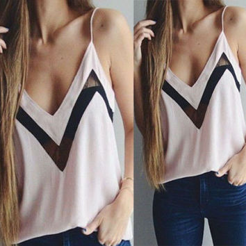 Summer Low Neck Vest Tank Top