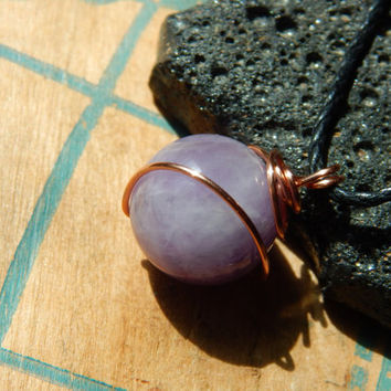 Wire-Wrapped Amethyst Necklace