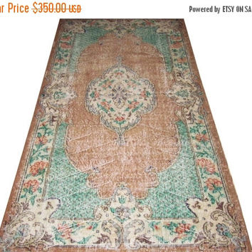 ON SALE Turkish Vintage Rug With French Design 7'3'' x 4'1''  Free Shipping