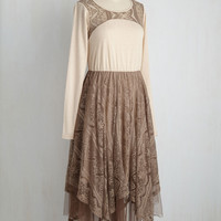 Ryu In Flits and Starts Long Sleeve Dress | Mod Retro Vintage Dresses | ModCloth.com