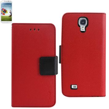 New 3 In 1 Wallet Case In Red For Samsung Galaxy S4 By Reiko