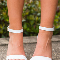 All The Right Things Heels, White